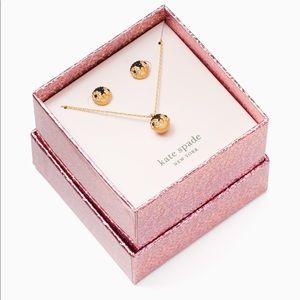Kate Spade beauty penguin pendant & studs set box